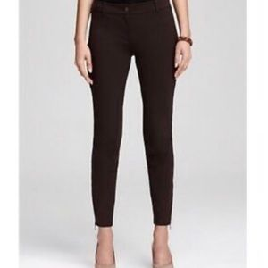 Eileen Fisher Brown Ponte Zip Ankle Riding Pants